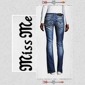 Miss Me Signature Boot Cut Jeans Size 28 EUC